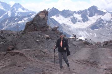 Agnieszka Chmielewska na wysokości nieco ponad 3000 m n.p.m.