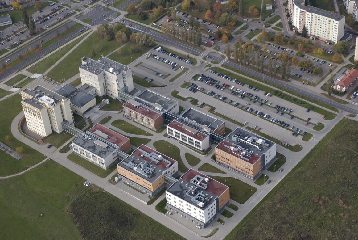 Politechnika 2 - uczelnia zdjęcie lotnicze stare