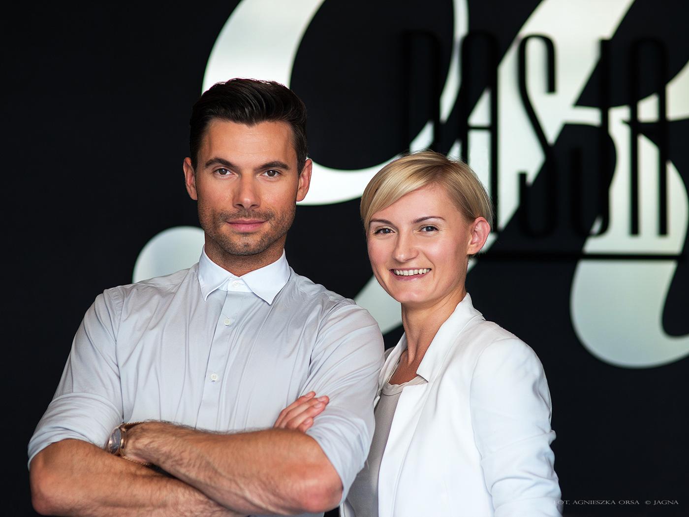Robert Rowiński i Wioleta Wojciechowicz na otwarcie