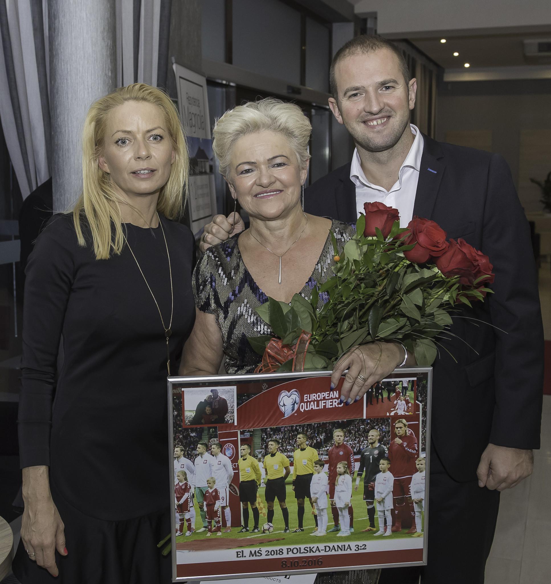 Pani Halina z synem Marcinem i synową Joanną