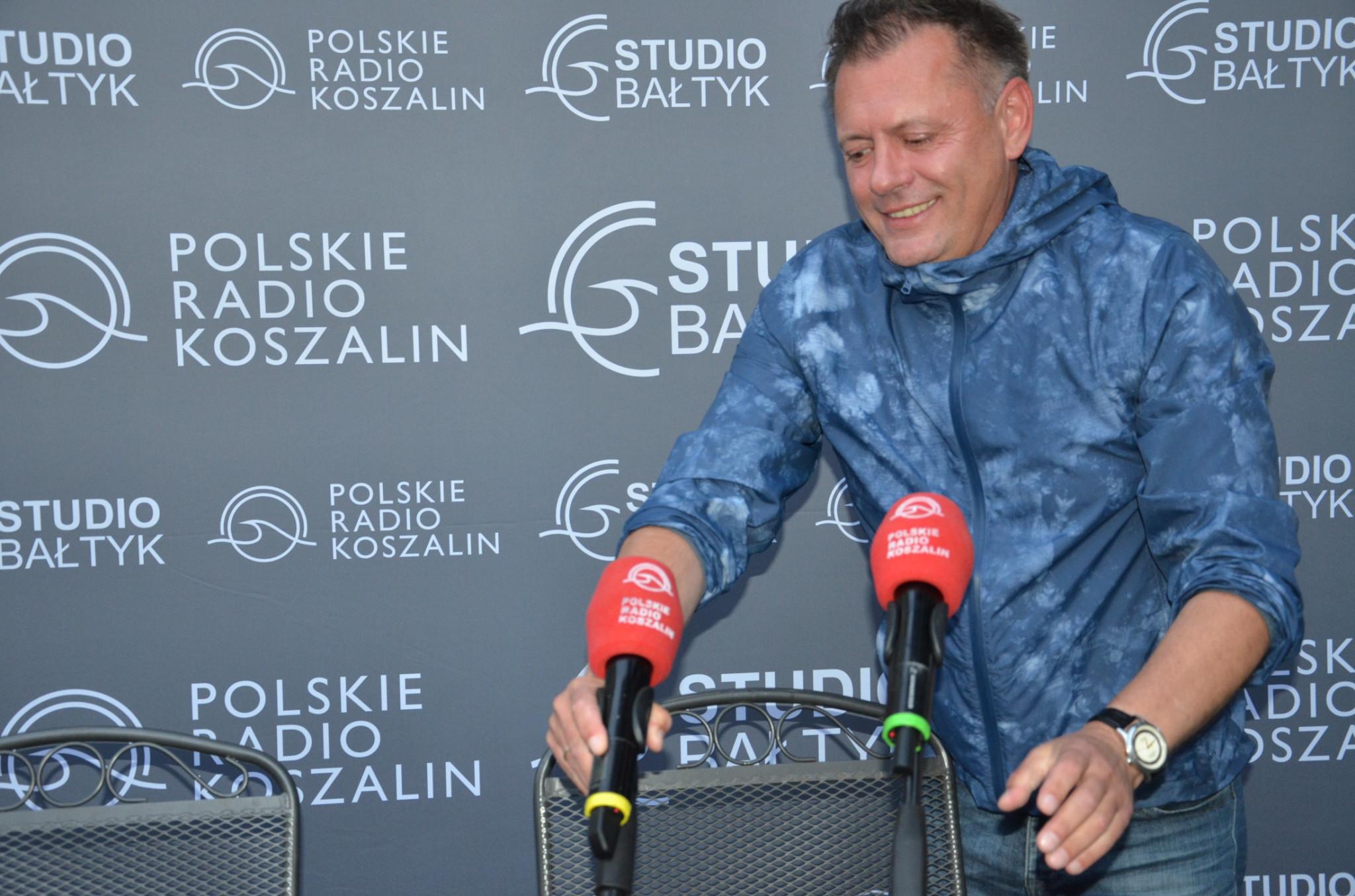 Szef Radia Koszalin Piotr Ostrowski w roli gospodarza