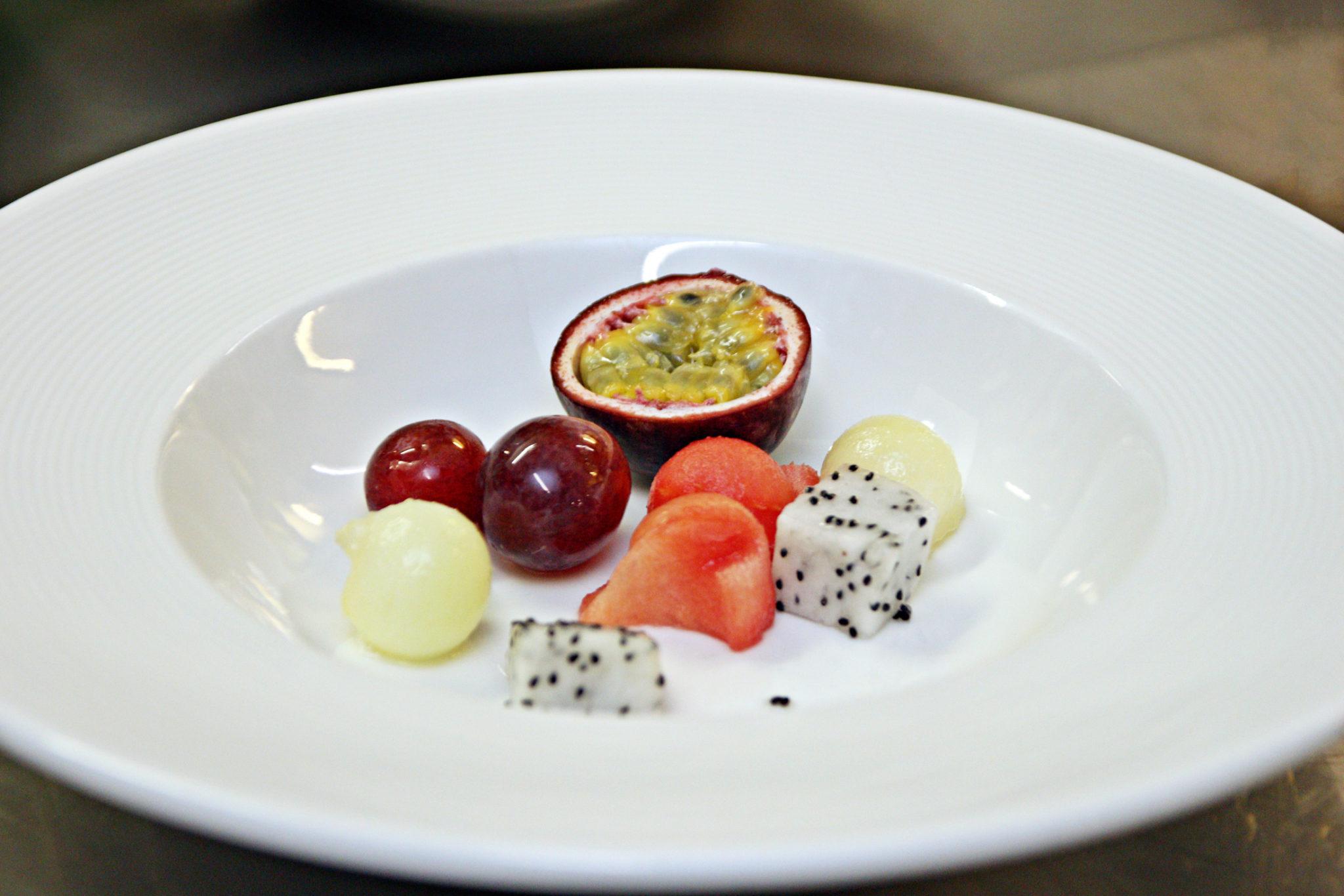 danie 8a owoce z fiołkiem