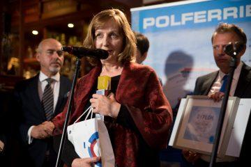 Jolanta Rudnik tuż po odebraniu nagrody