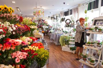 kwiaciarnia przy ul. Młyńskiej w Koszalinie