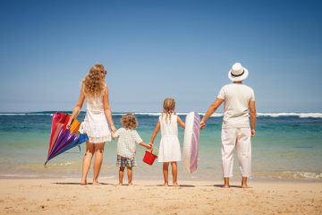 family-on-beach
