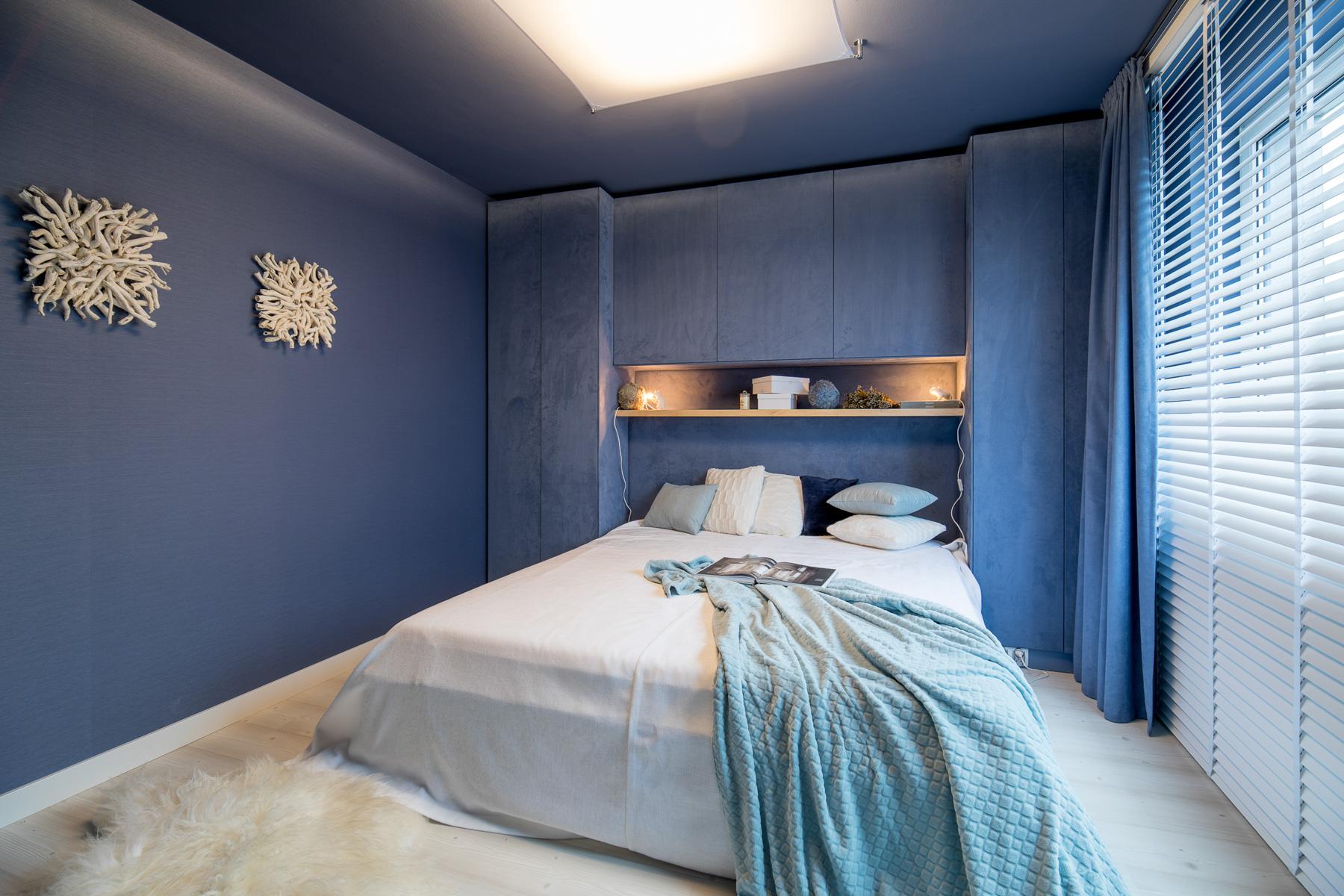 Projekt sypialni pracownia architektoniczna Concept Monika Buśko-Kuś - www.concept-wnetrza.com