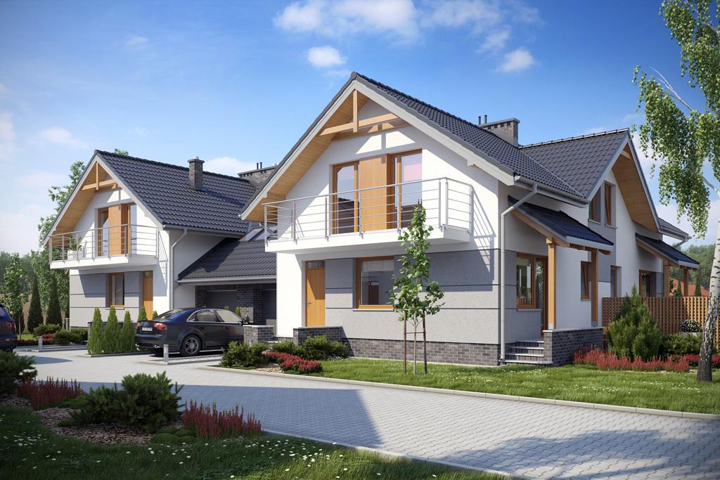 Domy przy ul. Jałowcowej w Koszalinie