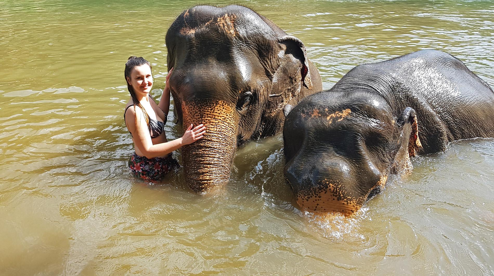 Autorka w sanktuarium słoni