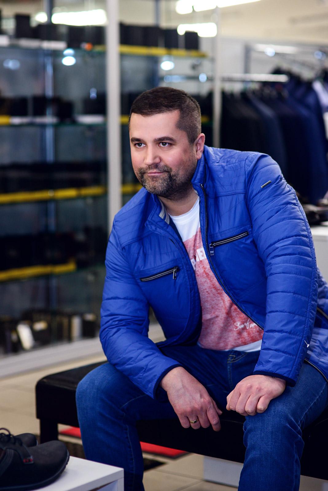 kurtka Jupiter 549 zł t-shirt Pioneer 79,90 spodnie Pierre Cardin 329 zł | Łukasz Machocki