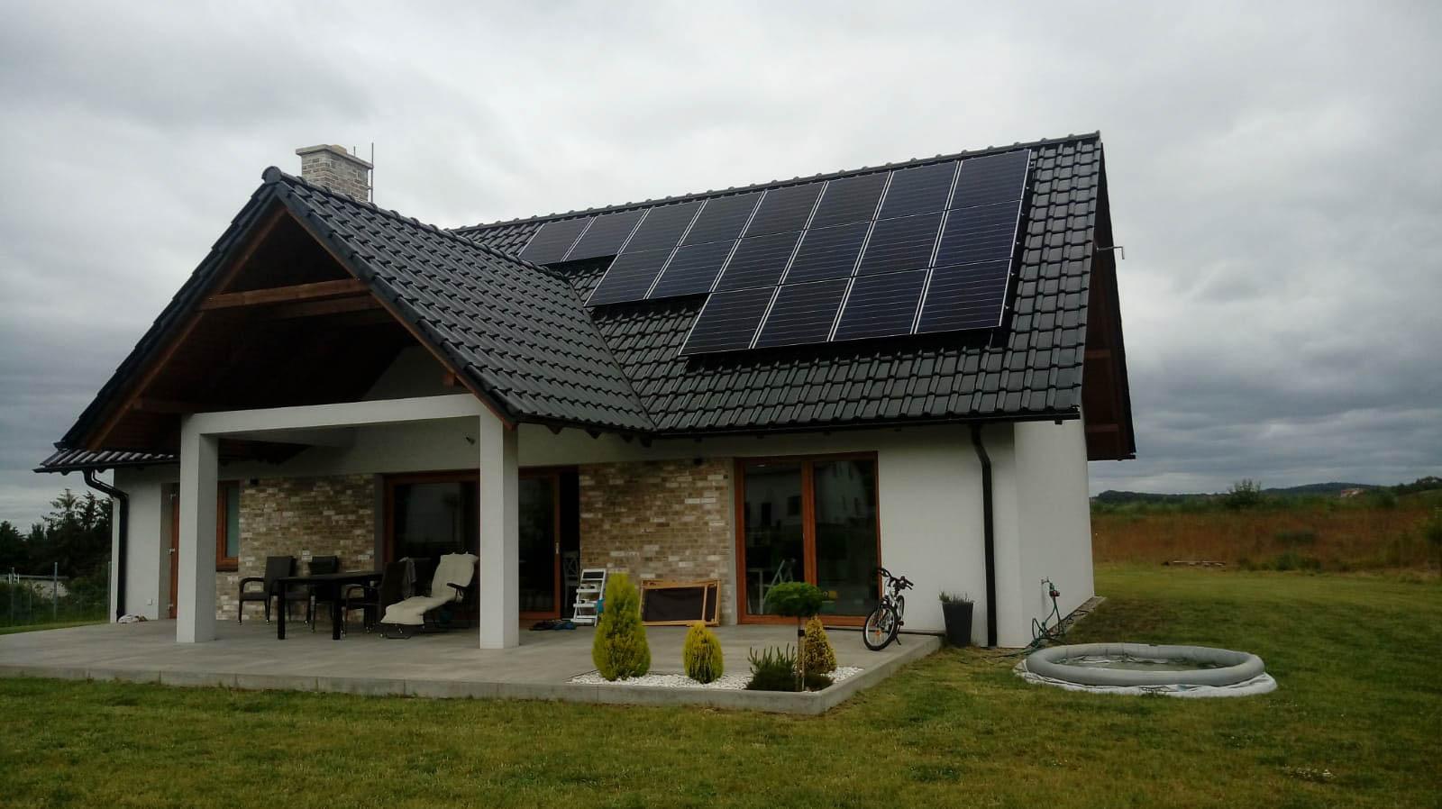 Dom jednorodzinny, instalacja PV 5,61KWp