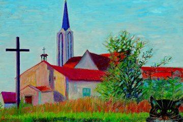 Osiedle europejskie-Matylda,pastel olejny